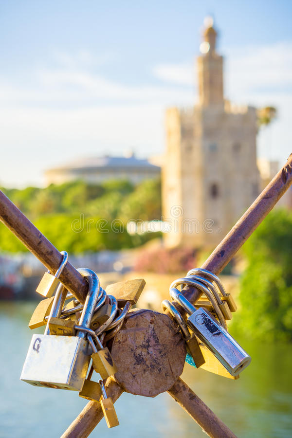Locked in Seville stock photography