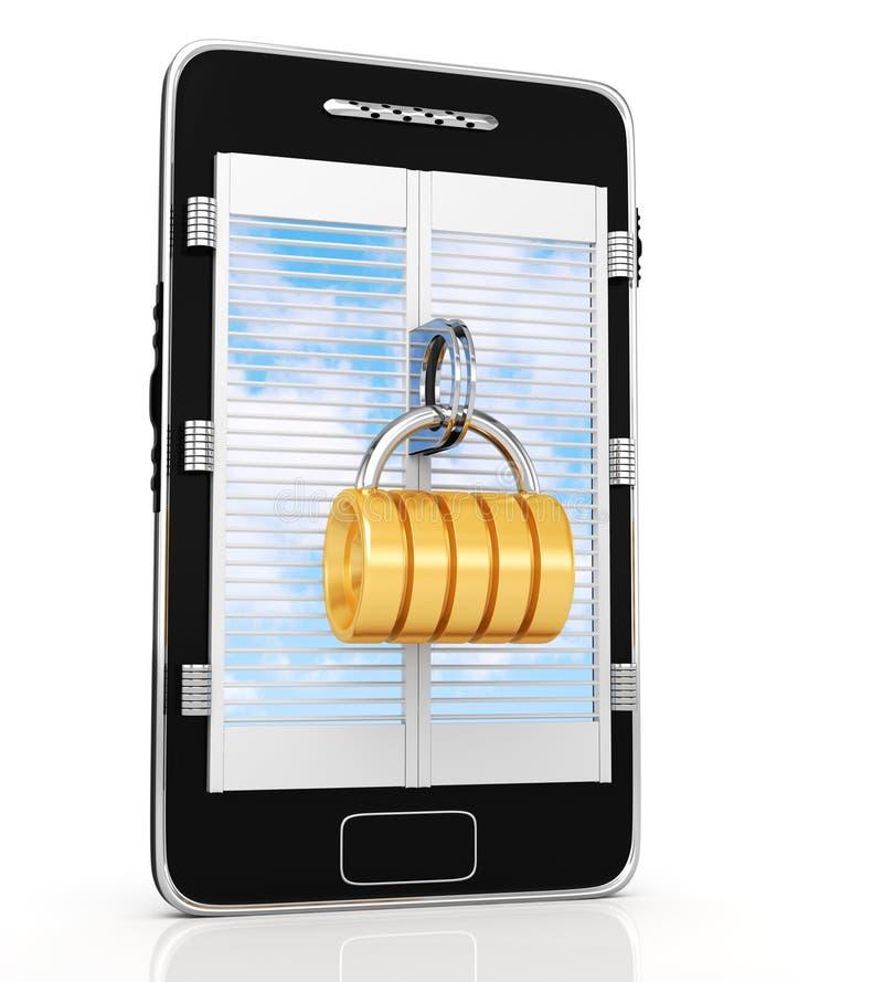 Download Locked smartphone stock illustration. Image of smart - 26631387