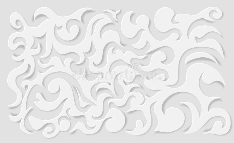 Lockenpapierhintergrund lizenzfreie stockfotografie