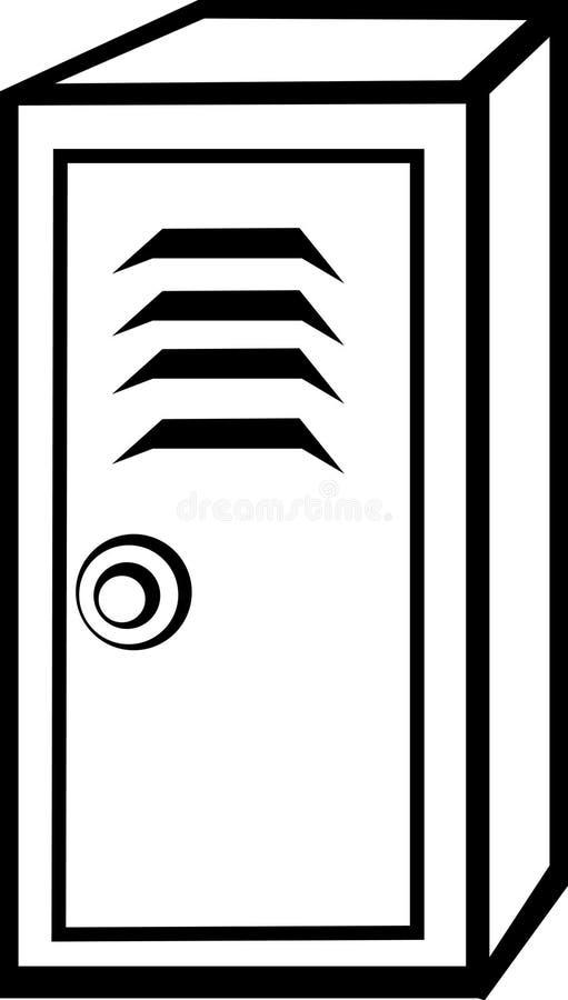 locker stock vector illustration of padlock hinges icon 2591170 rh dreamstime com lock clipart locker clipart