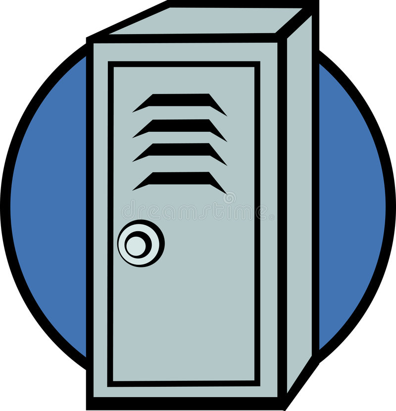locker stock vector illustration of door icon compartment 2591179 rh dreamstime com lock clipart clipart locker room