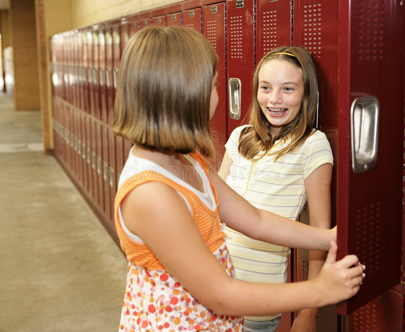 Download Locker Chitchat stock image. Image of education, classmate - 2968149