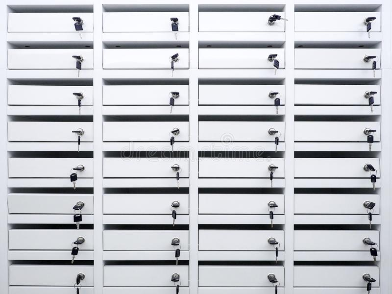 Locker in condominium royalty free stock image