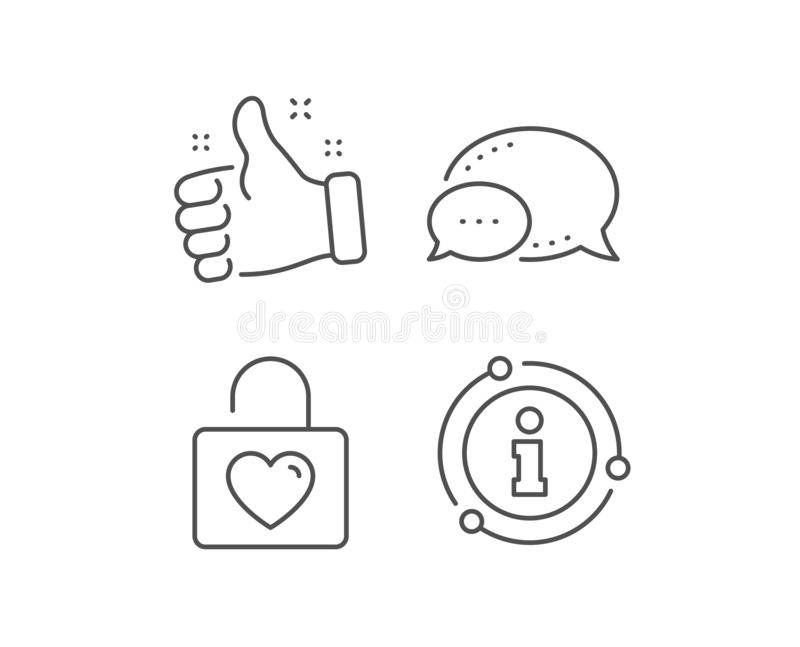 Locker with Heart line icon. Love symbol. Vector. Locker with Heart line icon. Chat bubble, info sign elements. Love symbol. Valentines day or Wedding sign royalty free illustration