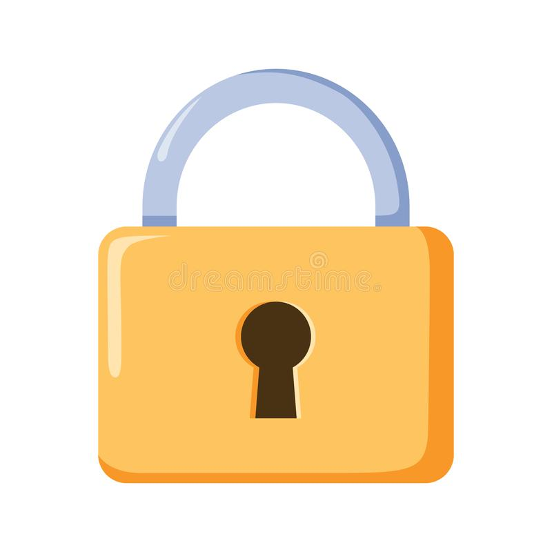 Locker icon, vector padlock symbol. Key lock illustration privacy and password icon. Safety and security protection with locked secure mechanism locking system stock illustration