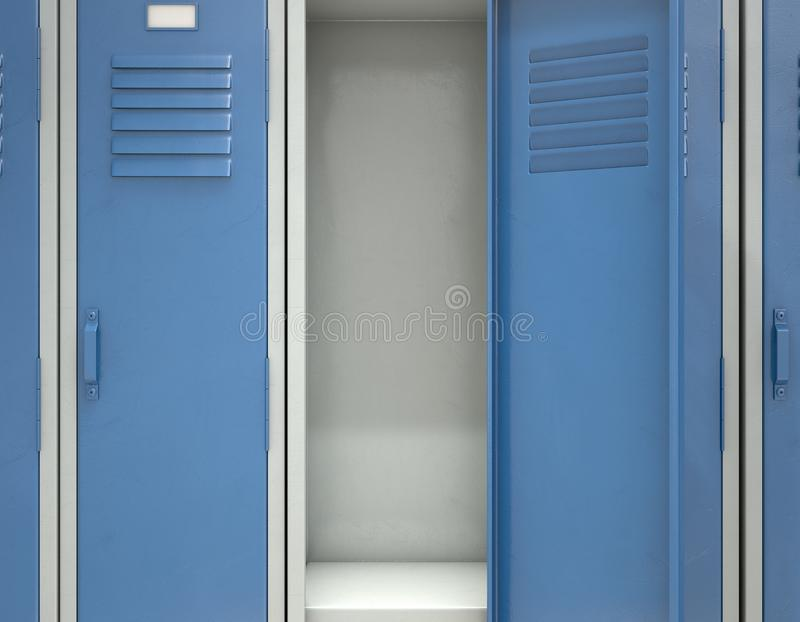 Download Locker Open Stock Illustration Of College