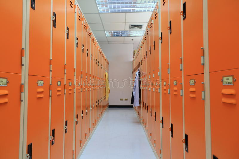 Locker room. stock photography