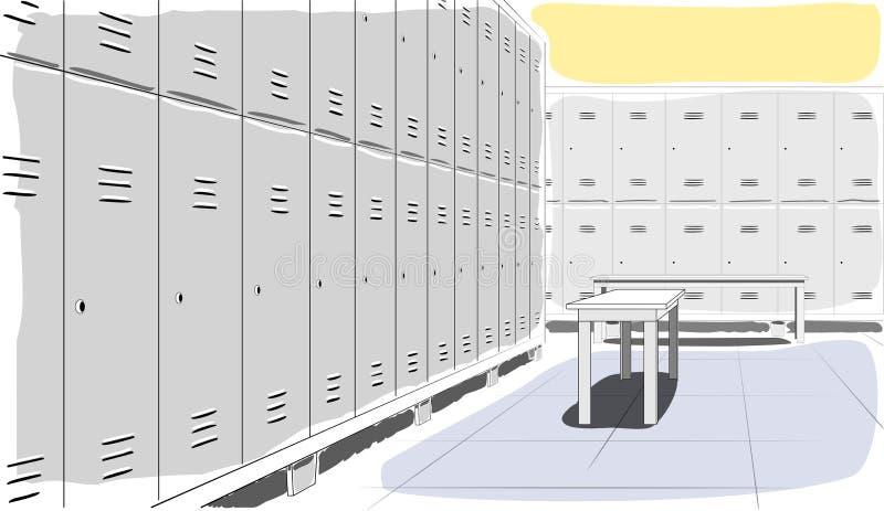 Locker room - vector illustration royalty free stock image