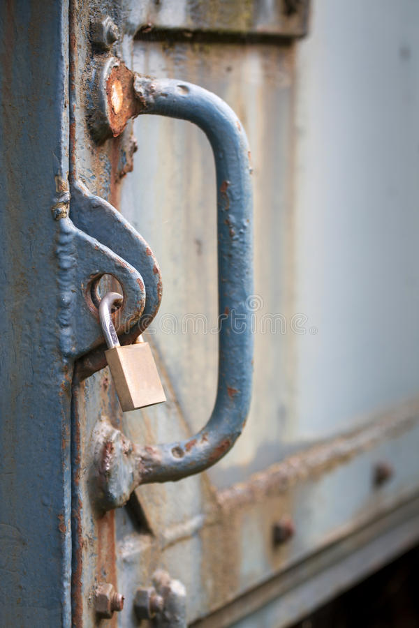 Download Locker Securing Old Heavy Iron Door Stock Image - Image of corrosion, locker: 28079895