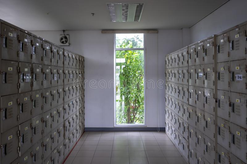 The locker used royalty free stock photography