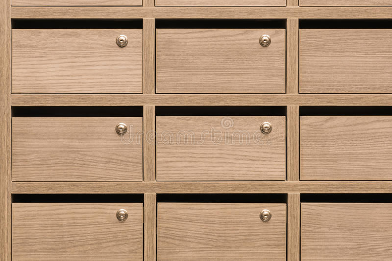 Locker wooden MailBoxes postal royalty free stock photography
