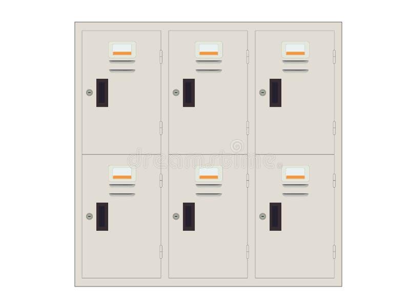 Lockers. Illustration of Lockers on white background royalty free illustration