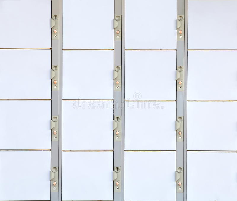 Lockers at the station. Photo of lockers at the train station royalty free stock photos