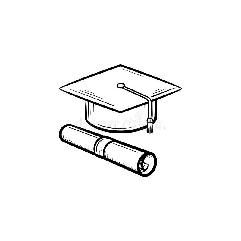 Locket av kandidaten och certifikatet räcker den utdragna symbolen vektor illustrationer