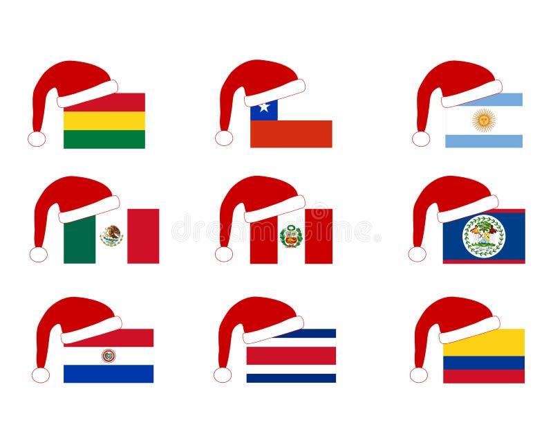 locket claus flags santa stock illustrationer