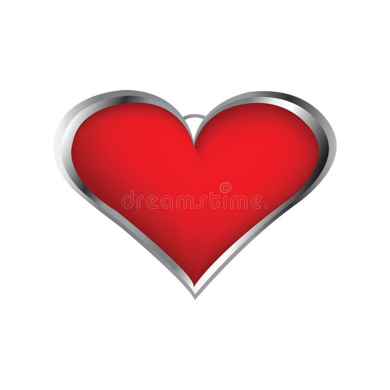 Locket dado forma coração ilustração stock