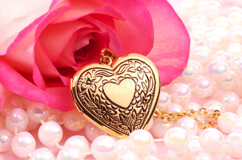 Locket del cuore fotografie stock