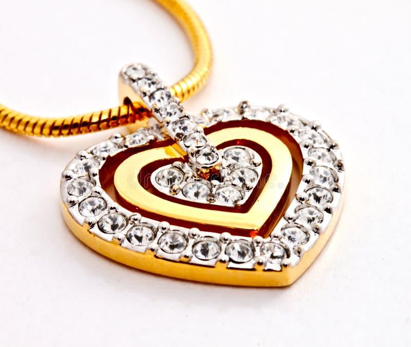 Locket del diamante de la dimensión de una variable del corazón fotografía de archivo