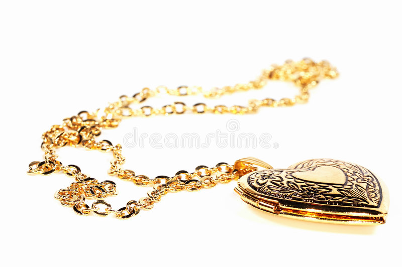 Locket do ouro foto de stock