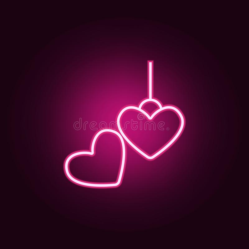 locket neon icon. Elements of jewelry set. Simple icon for websites, web design, mobile app, info graphics royalty free illustration