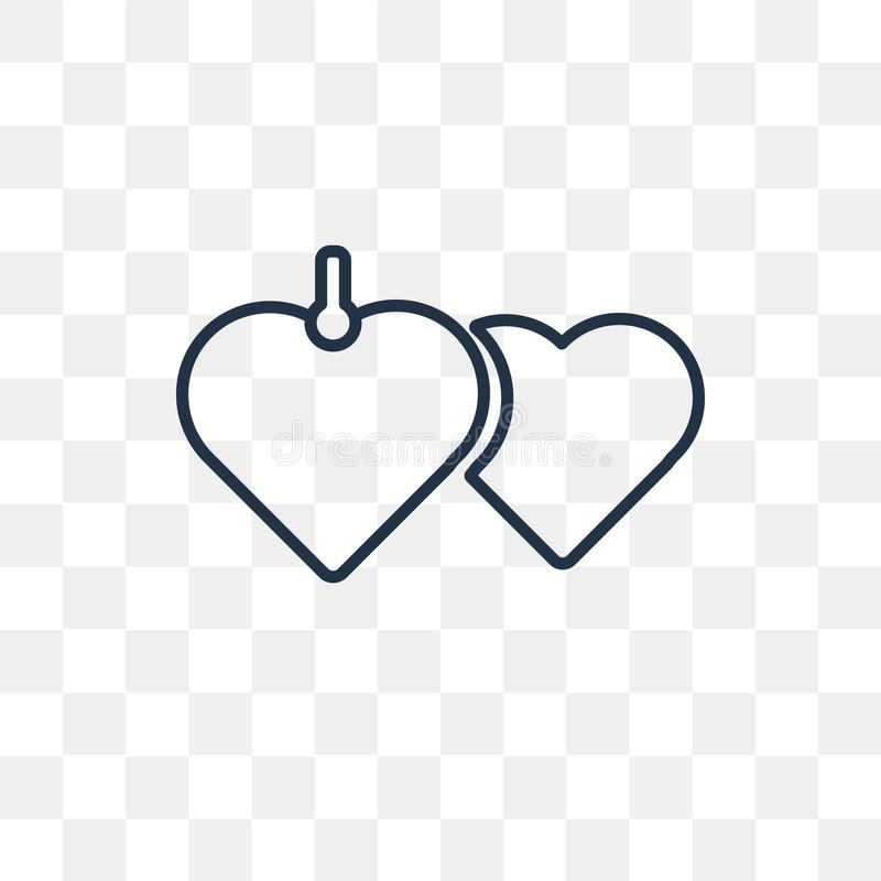 Locket vector icon isolated on transparent background, linear Lo royalty free illustration