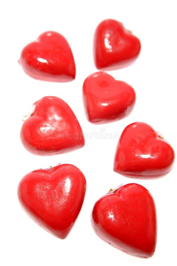lockets сердца красные стоковая фотография rf