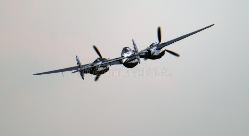 Lockheed błyskawica P38 Amerykański wojny światowa dwa wojownik obraz royalty free