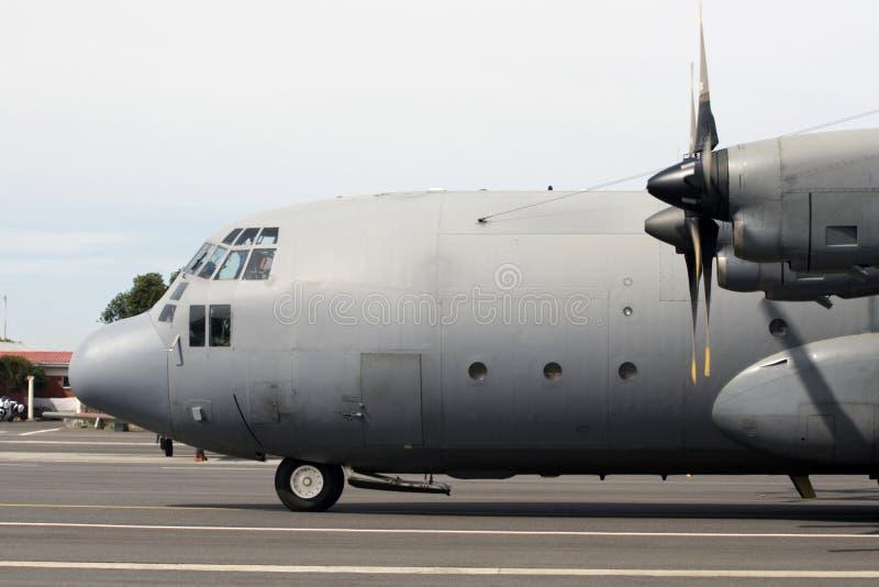 Lockheed c-130 het vliegtuig van Hercules stock foto