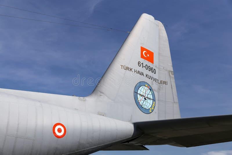 Lockheed c-130 Hercules in Teknofest Istanboel royalty-vrije stock fotografie