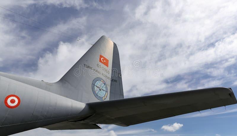 Lockheed c-130 Hercules in Teknofest Istanboel stock foto's