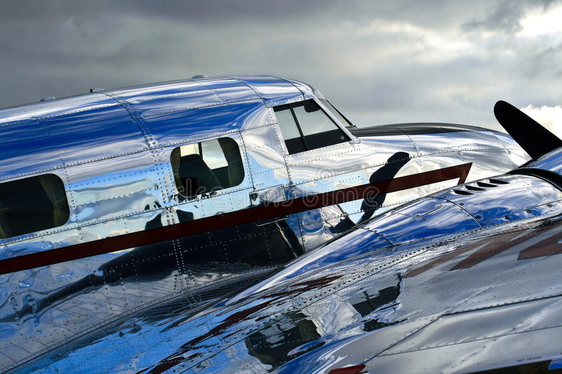 Lockheed Electra Jr. Shiny Fuselage royalty free stock images