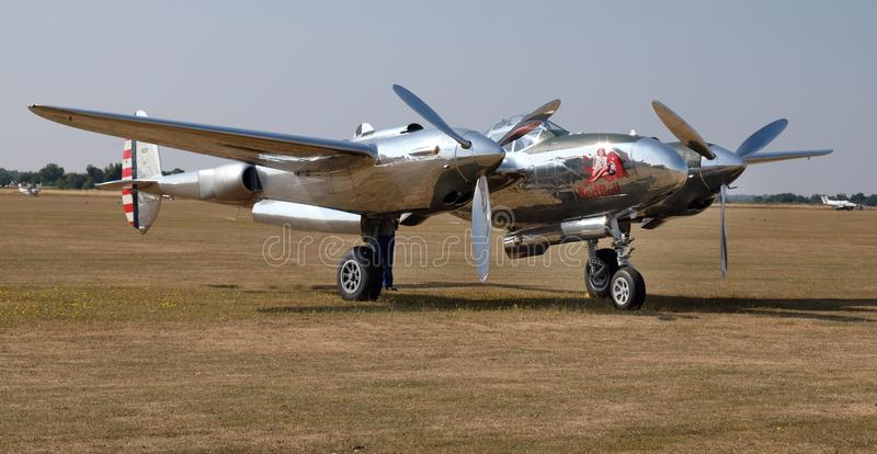 Lockheed Lightening P38 long range American attack aircraft and escort fighter. stock photos
