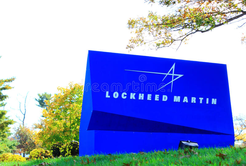 Lockheed Martin σημάδι στοκ εικόνα