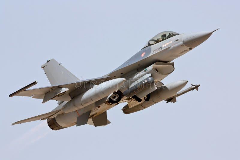 Lockheed Martin F-16 - Take Off. Lockheed Martin F-16 Take Off in Monte Real - Portugal royalty free stock image