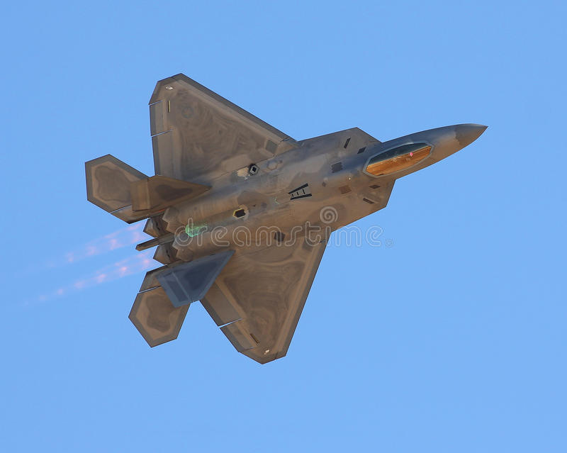 Lockheed Martin F-22 Raptor royalty free stock photo