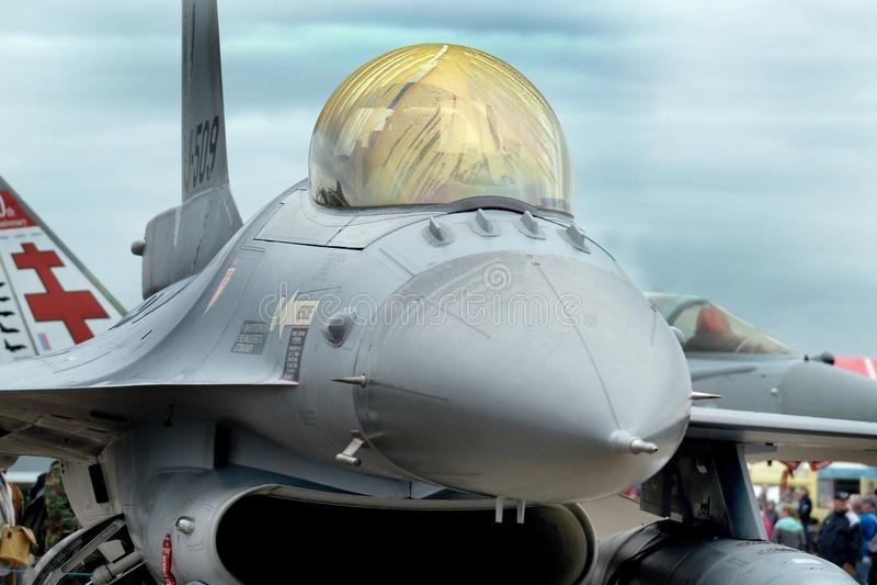 Lockheed Martin F16 Fighting Falcon, modern fast jet fighter. royalty free stock photos