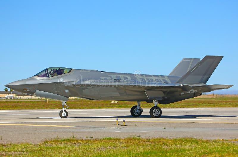 Lockheed Martin F-35A Lightning II fighter jet USAF royalty free stock photos