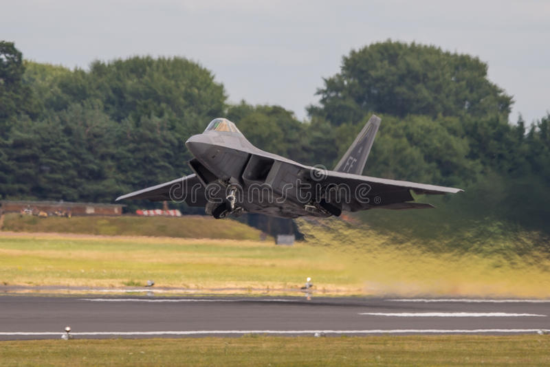 Lockheed Martin F-22 Raptor stock afbeelding