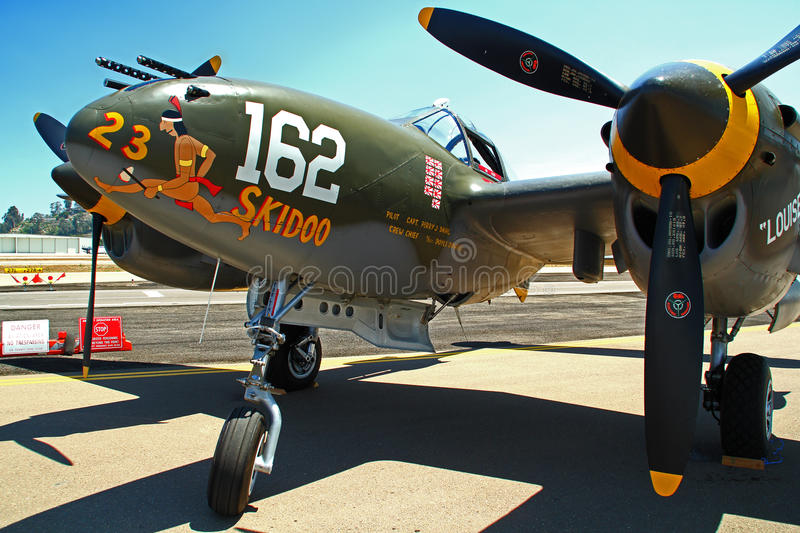Lockheed P-38 Lightning royalty free stock photo