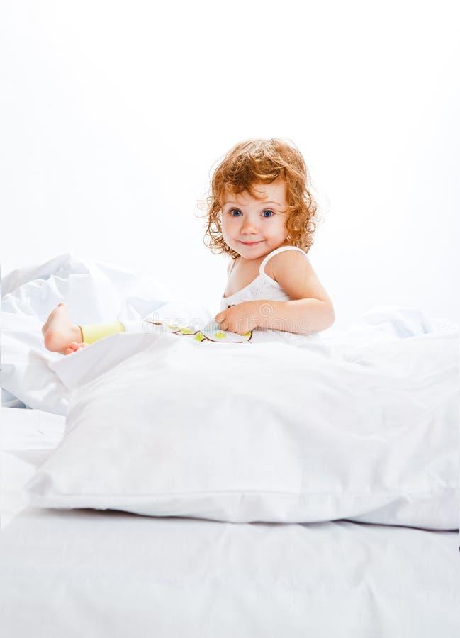 lockig flickalitet barn för underlag royaltyfria foton