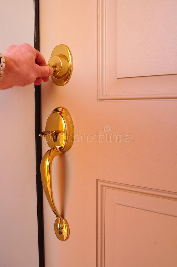 Free Locking A Dead Bolt Stock Image - 12182011