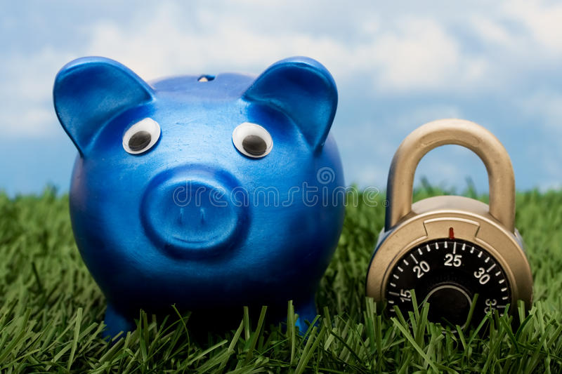 Download Locking In Your Savings Royalty Free Stock Photos - Image: 10817048