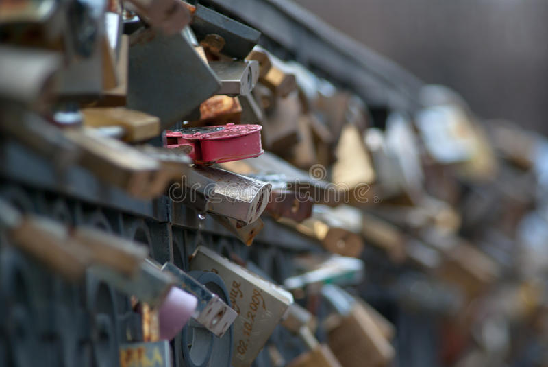 Download Locks on a bridge stock photo. Image of bridge, locks - 26184370