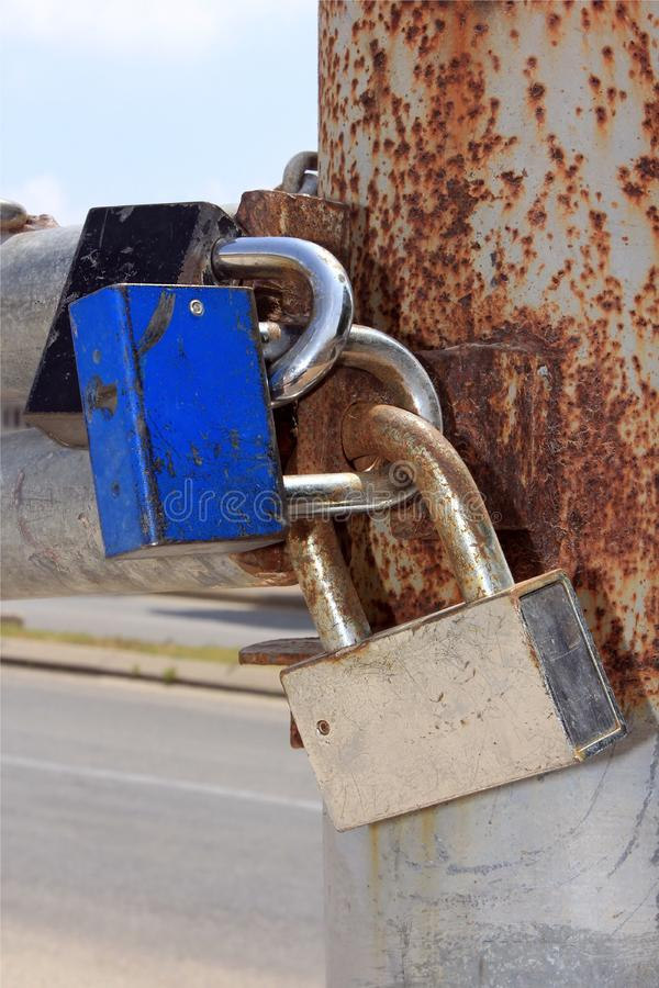 Download Locks on the gates stock photo. Image of open, protect - 25014970
