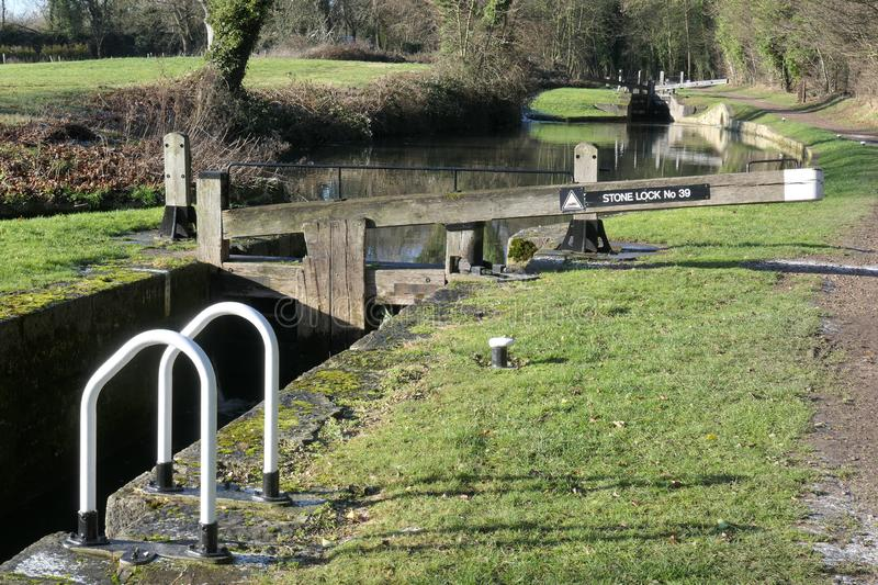 Locks located on the Chesterfield Canal stock photography