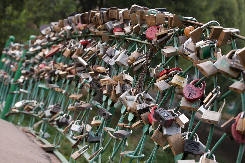 Download Locks of love stock image. Image of love, tradition, handrails - 17220773