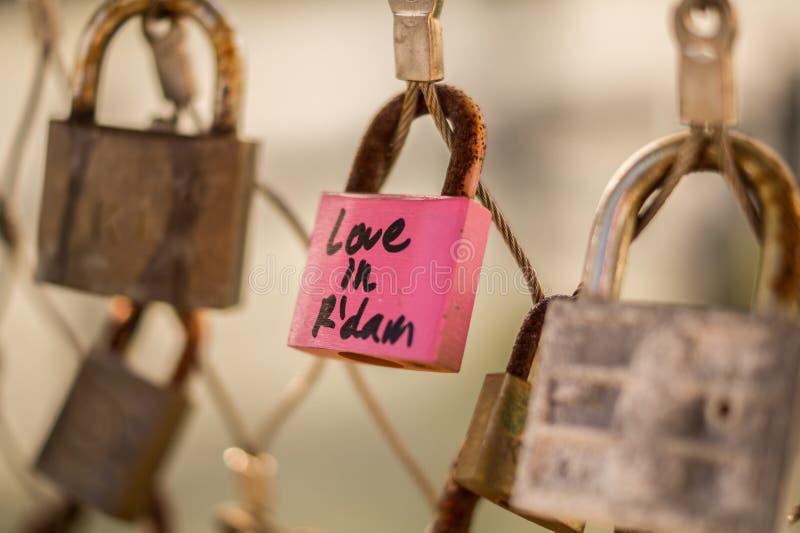 Locks of love, Rotterdam, Netherlands royalty free stock photo