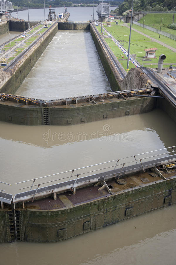 Download Locks on Panama Canal stock image. Image of huge, stern - 20574933