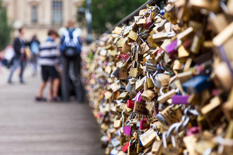 Download Locks Of Pont Des Arts In Paris, France - Love Bridge Editorial Stock Image - Image: 42599854