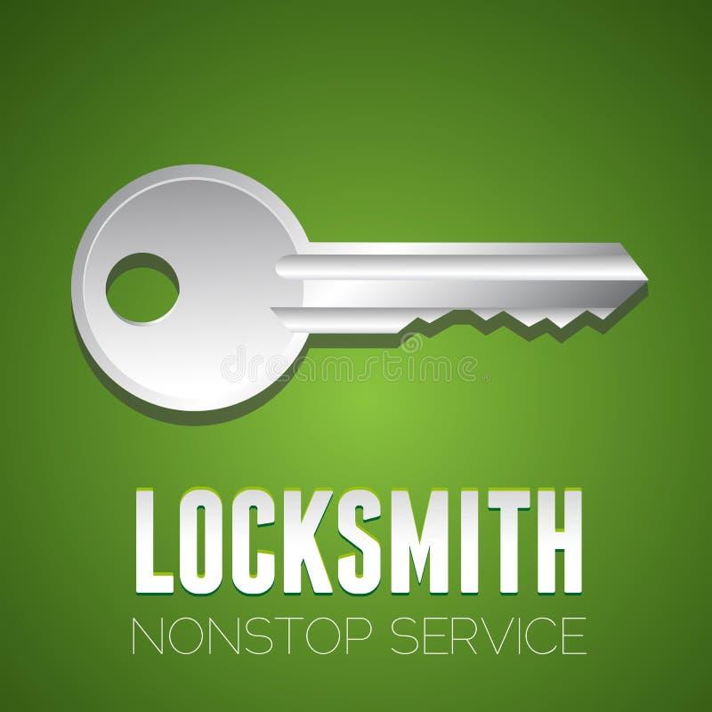 Locksmith nonstop service stock illustration
